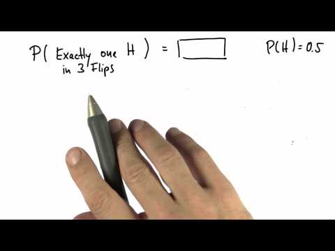 One of Three 1 - Intro to Statistics - Probability - Udacity