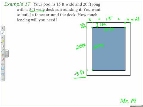 Solve a Problem Using The Perimeter of A Rectangle - Geometry