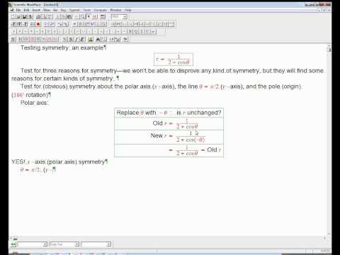 testing symmetry in a polar graph