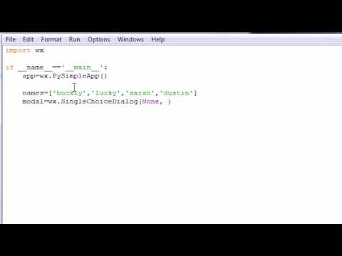 wxPython Programming Tutorial - 14 - Choice List Dialog
