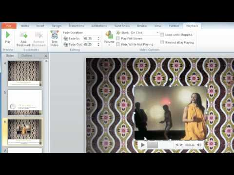PowerPoint 2010: Editing Videos