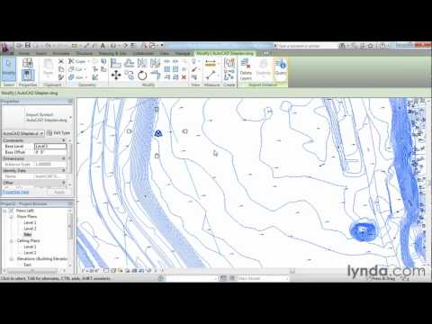 Revit Architecture: How to work with DWG files | lynda.com tutorial