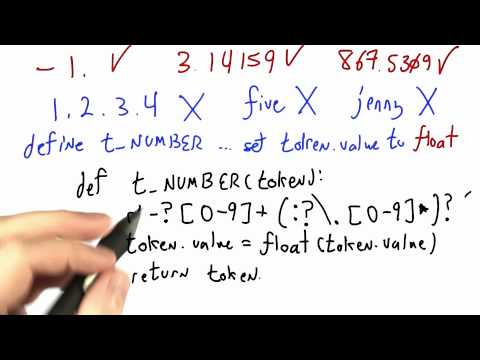 Numbers Solution - CS262 Unit 2 - Udacity