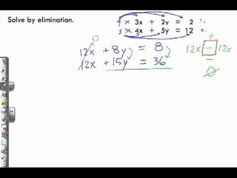 Solving Linear Systems by Elimination Sample Problem 2