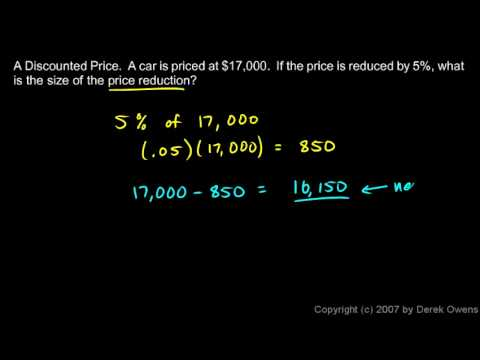 Prealgebra 7.3b - Examples of Percentages in Calculations