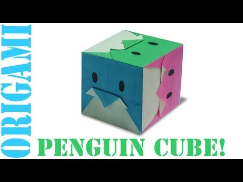 Origami Daily - 411: 3D Penguin Cube - TCGames [HD]
