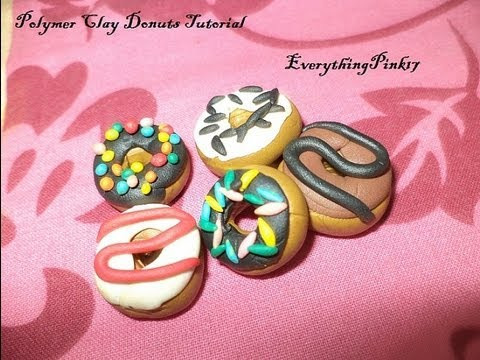 ♥ Polymer Clay Donut Tutorial ♥ ( • ◡ • )
