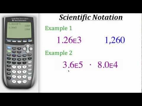 TI Calculator Tutorial: Scientific Notation