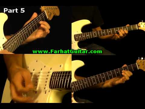 Sunday Bloody Sunday -U2 Guitar Cover Full Song Part 9  www.FarhatGuitar.com