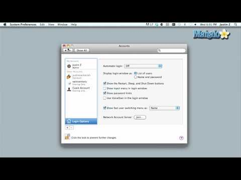 Using a Mac - Customizing Account