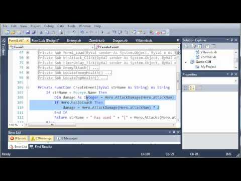 Visual Basic Tutorial - 163 - Game Part 19   Adding The Spinach Multiplier To The Log