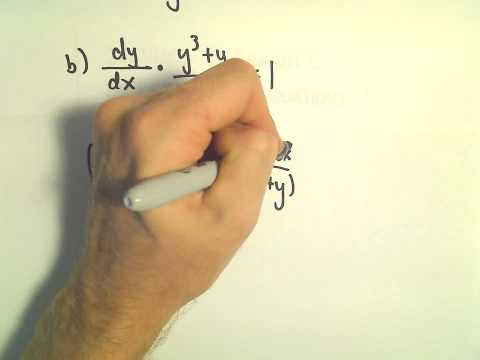 Solving a Separable Differential Equation, Another Example #2