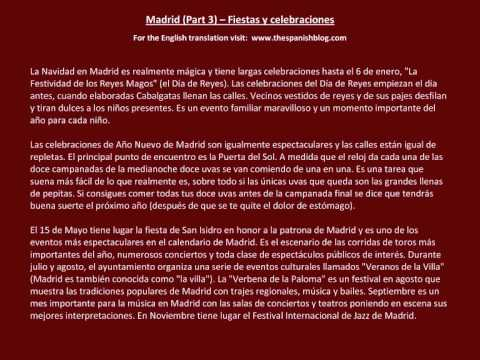 Spanish English Parallel Texts Madrid (Part 3) Fiestas y celebraciones