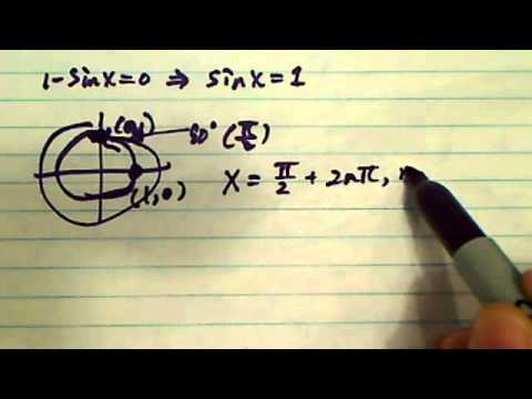 Trig Equation: (1+sinx)(1-sinx)=0