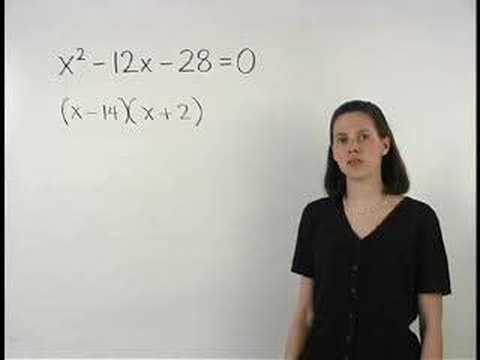 Solving Polynomial Equations - YourTeacher.com - Algebra Help