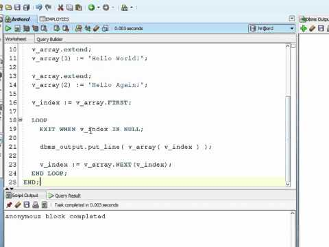 Oracle PL/SQL Tutorial -  Nested Tables