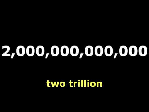 Numbers :Trillion : Learn English Language