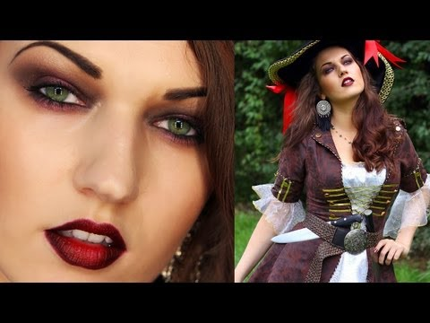 SEXY PIRATE Halloween Look (Makeup Hair Costume)