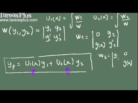 Variación de parámetros parte 1