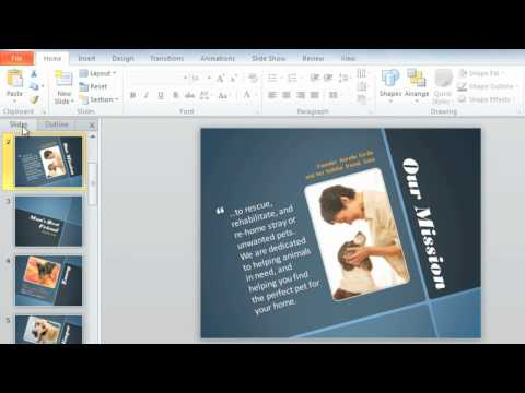 PowerPoint 2010: Manage Slides