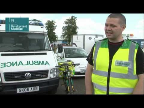 Working as a bicycle paramedic
