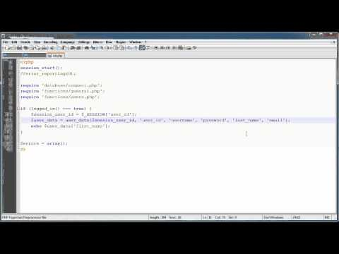 PHP Tutorials: Register & Login (Part 7): User Data (Part 2)