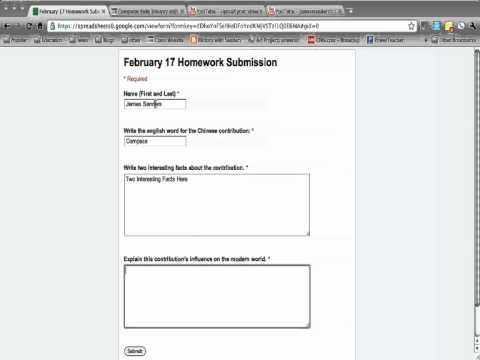 Submitting Your Homework With Google Forms