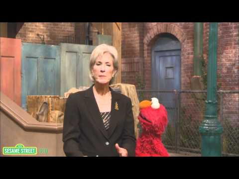 Sesame Street: Secretary Sebilius and Elmo Flu PSA Fall 2010