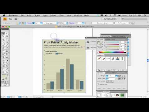 Part 2. How to make a bar chart in Adobe Illustrator