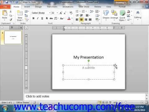 PowerPoint 2010 Tutorial Inserting New Slides Microsoft Training Lesson 2.8
