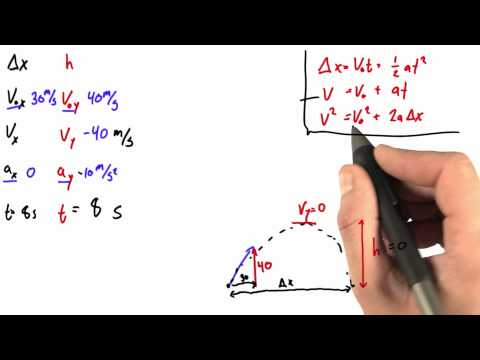 Solving for Final Velocity 2 Solution  - Intro to Physics - Motion - Udacity