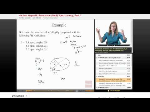 Organic Chemistry: Nuclear Magnetic Resonance (NMR) Spectroscopy Example