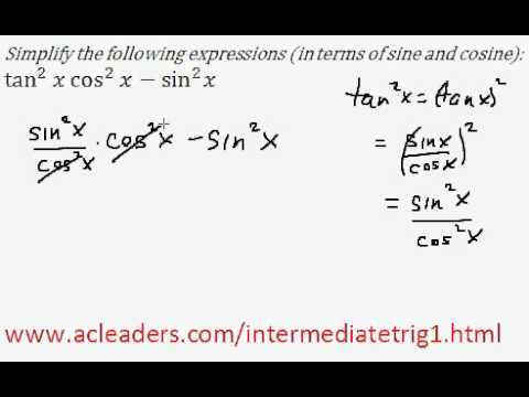Simplifying trig expressions - Pt. 2 (EASY!!!!!)