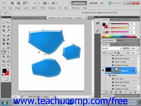 Photoshop CS5 Tutorial Using the Anchor Point Tools Adobe Training Lesson 12.5