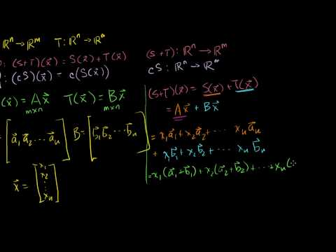 Sums and Scalar Multiples of Linear Transformations