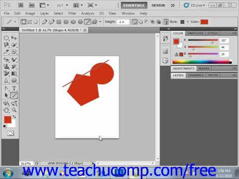 Photoshop CS5 Tutorial Vector Graphics Adobe Training Lesson 3.2