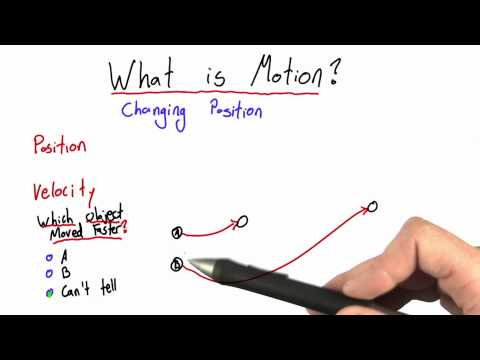 What is Motion Solution  - Intro to Physics - Motion - Udacity