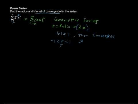 What is a Power Series? Radius of Convergence, Interval of Convergence - Calculus Tips