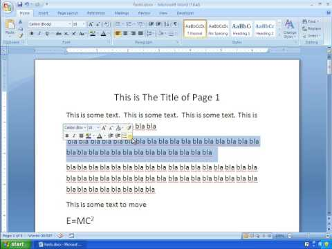 Word 2007 Tutorial 8 - How To Get Rid Of That Annoying Mini Toolbar
