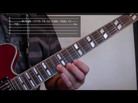 SOMETHING Solo ( Guitar Lesson ) by THE BEATLES,  WITH TABS