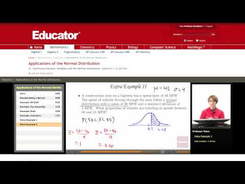 Statistics: Applications of the Normal Distribution