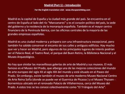 Spanish English Parallel Texts Madrid (Part 1) Introducción