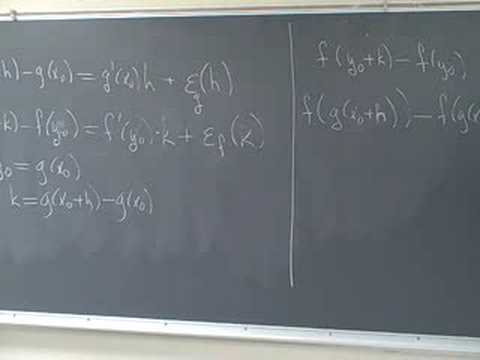 Proving the Chain Rule