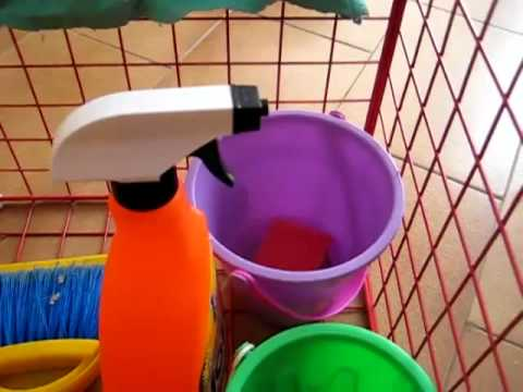 Preschool - Life Skills. cleaning basket