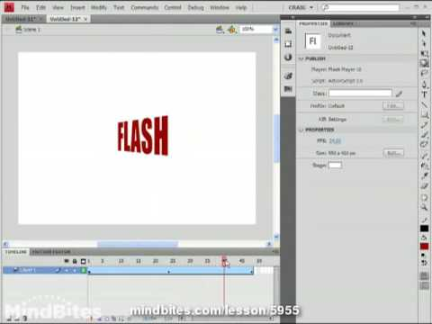 Use 3D Flash 6: Motion Editor Adjustments