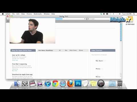 Using a Mac - Dock Programs