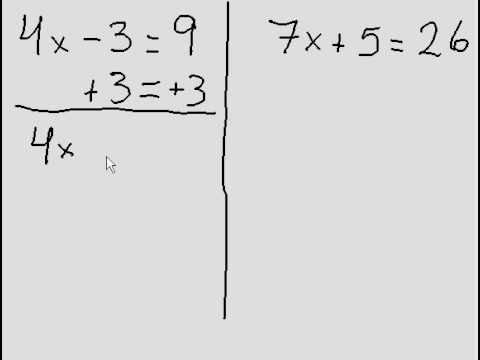 Simple Algebra - 2 questions (two steps)