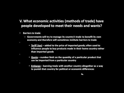Resources and Trade