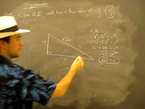 Trigonometric Ratios Example problem 2B: Trigonometry Math Help