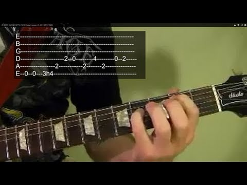 RUN TO THE HILLS ( Guitar Lesson ) by IRON MAIDEN ( 2 of 2 )